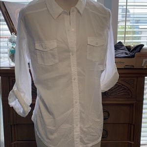 New Old Navy XXL White Ladies Long sleeves Shirt